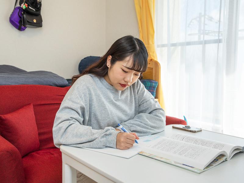 誘惑の少ない環境なので、勉強に集中できる。